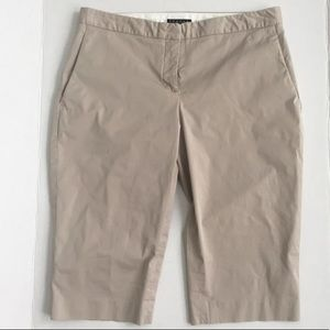 Theory khaki bermuda short in size 2